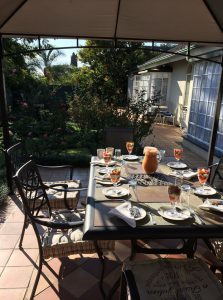 Breakfast at 40 on Ilkey B&B, the comfortable and affordable accommodation Menlyn-Pretoria.